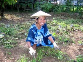 Bäuerin in Muara Muntai