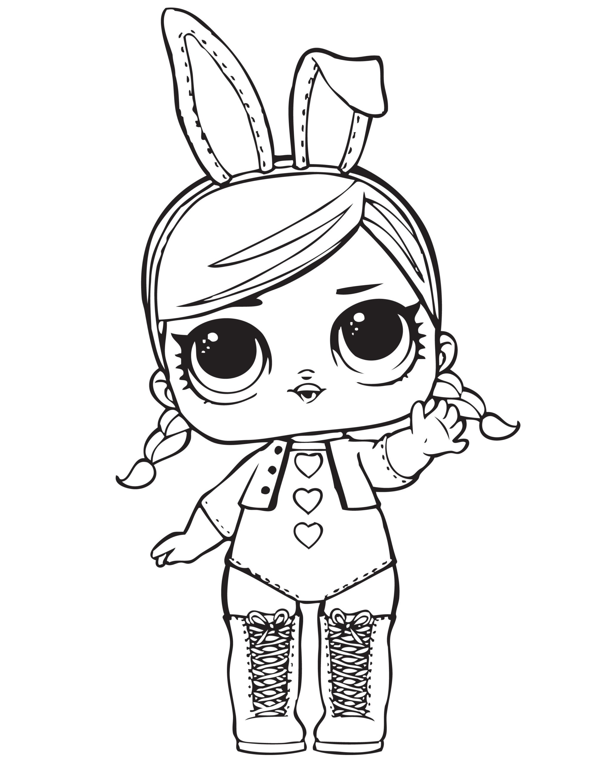 Christmas Lol Doll Coloring Pages
