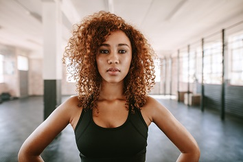 Young woman with a determined look