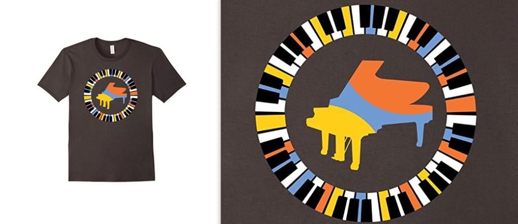 Piano and Keys Tshirt