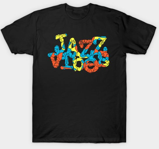Colorful Jazz Vibes Design T-Shirt