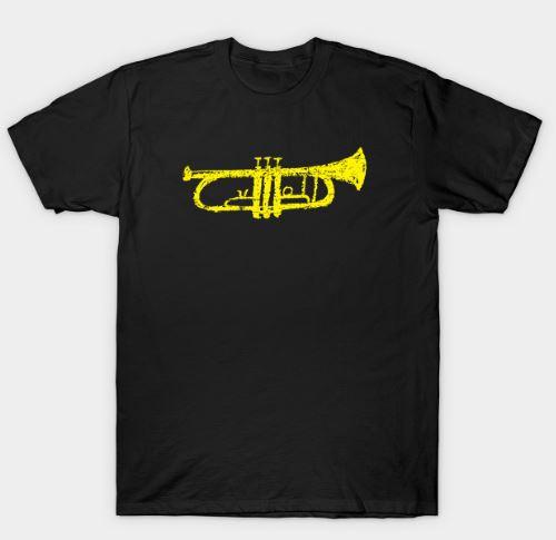 Funny Cartoon Style Trumpet T-Shirt