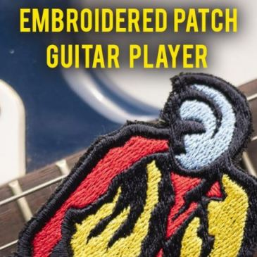 Embroidered Patch: Guitar Player