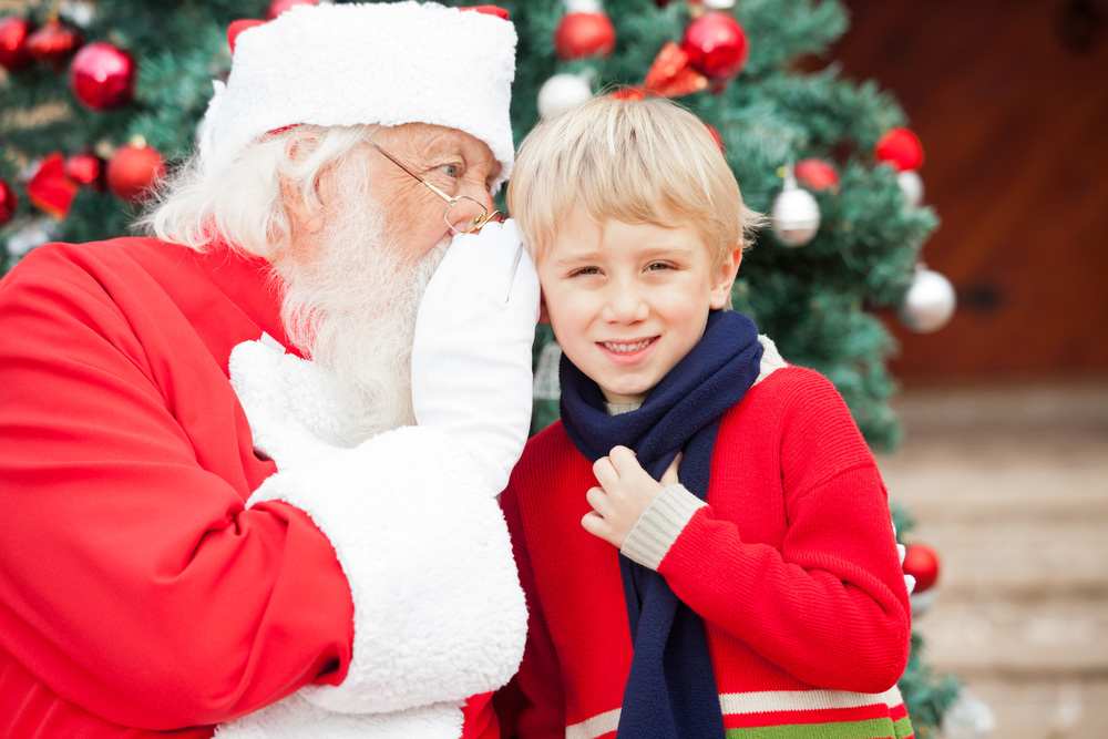 A letter from Santa for kids traditions on Christmas