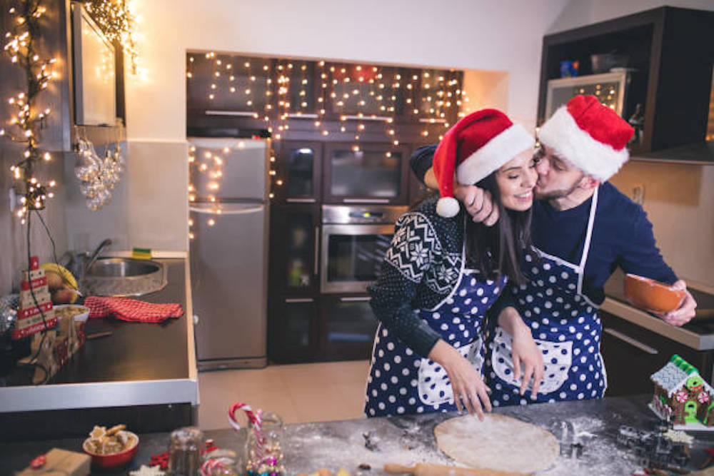 Making Christmas cookies is one of popular couples Christmas activities