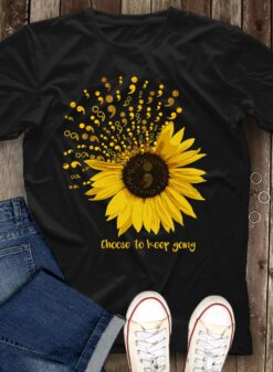 Choose To Keep Going Shirt Semicolon Suicide Prevention