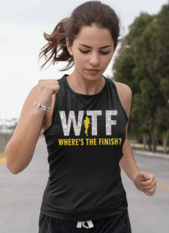 Funny Marathon Shirt WTF Where's The Finish