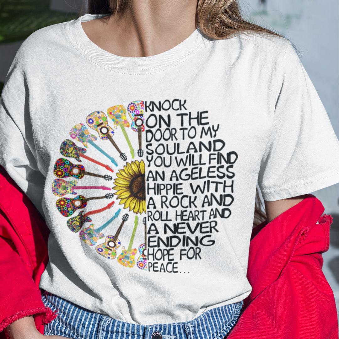 Guitar Hippie Shirt Knock On The Door To My Soul