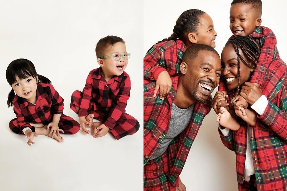 Plaid-Pajama-Set-is-one-of-the-great-Christmas-pyjamas-toddler-girls