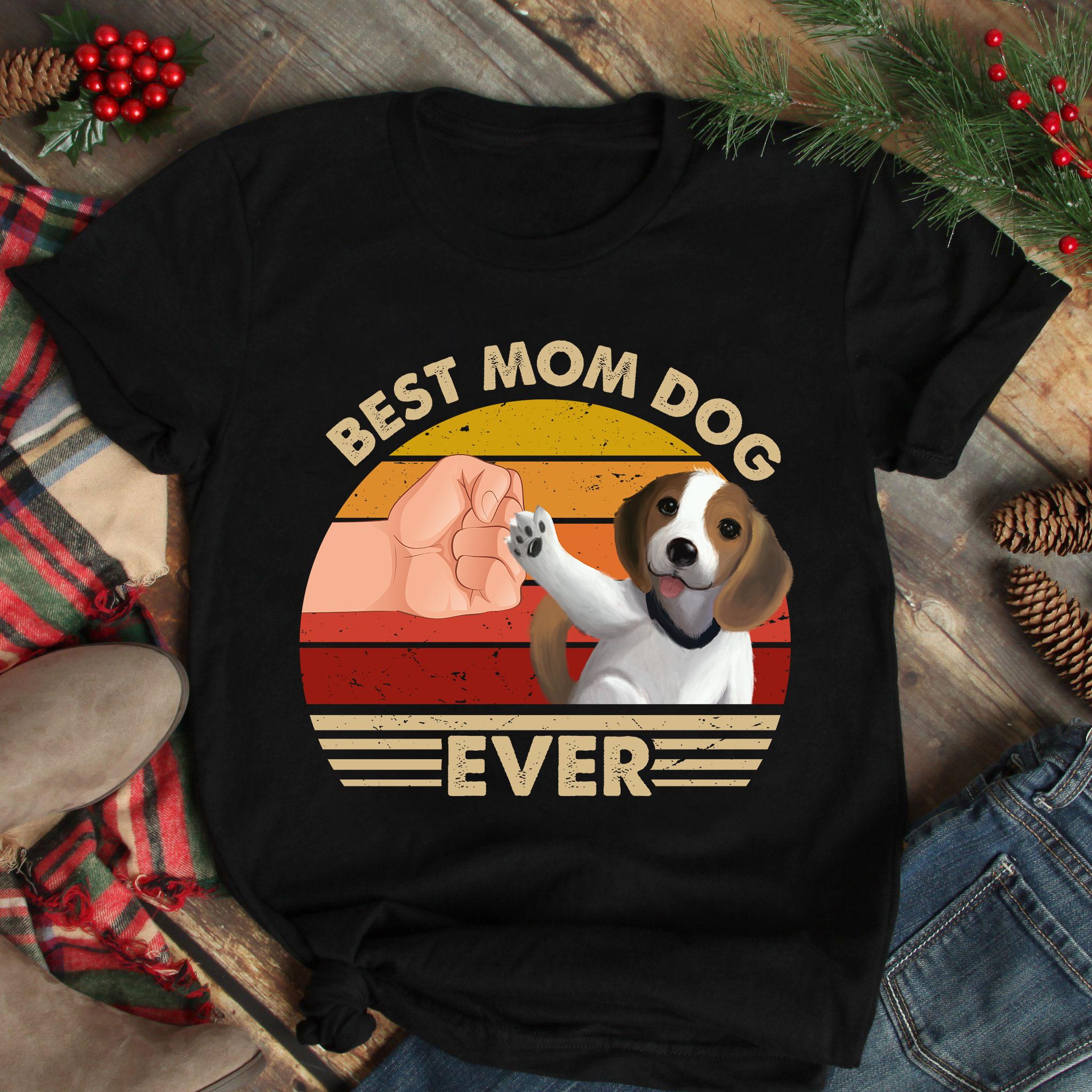 Best Mom Ever Shirt Vintage Best Beebull Dog Mom Ever