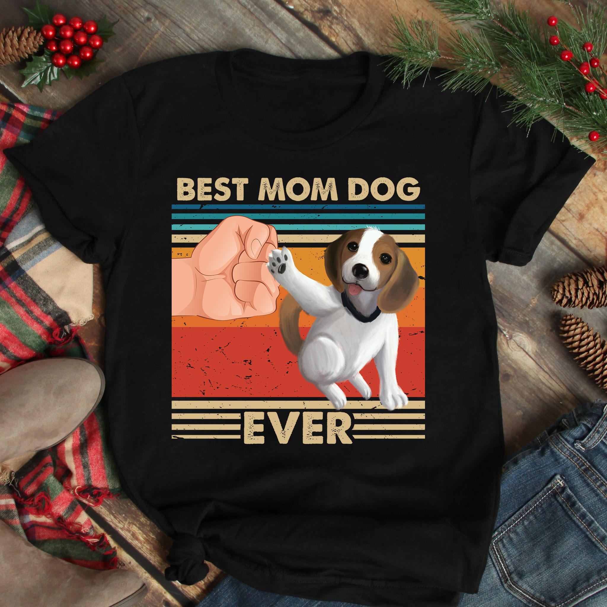 Best Mom Ever Shirt Vintage Best Beebull Dog Ever
