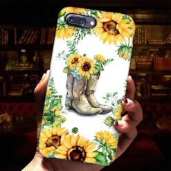 Farming Phone Case Sunflower Cowgirl Floral Boots