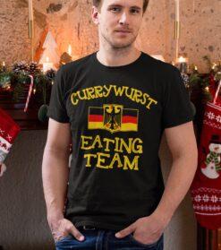 German Shirt CurryWurst Eating Team