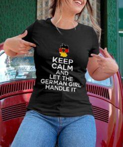 German Shirt Keep Calm Let German Girl Handle It German Map