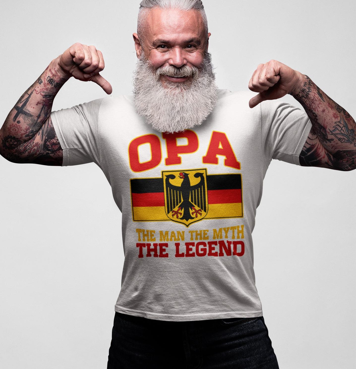 German Shirt Opa The Man The Myth The Legend German Flag