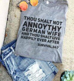 German Shirt Thou Shalt Not Annoy Thy German Wife
