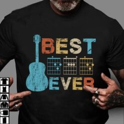 Guitar Dad Shirt Guitar Chords Best Guitarist Dad Ever