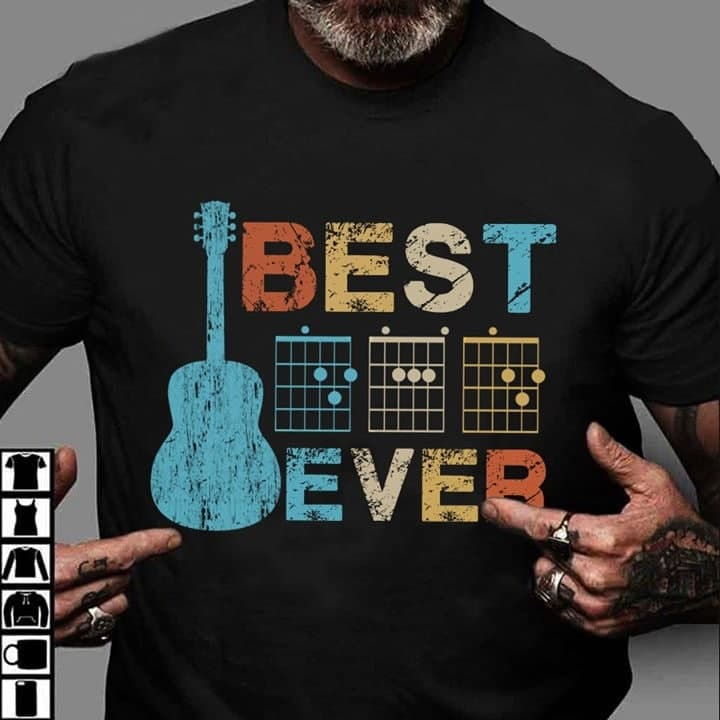 Guitar Dad Shirt Guitar Chords Best Guitarist Dad Ever
