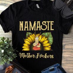 Namaste Shirt Sheep Yoga Sunflower Mother Fucker