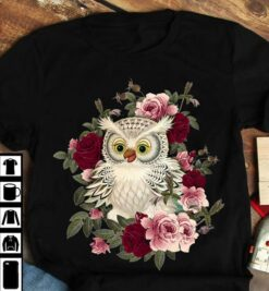 Owl Shirt Owl And Rose