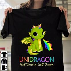 Unicorn Shirt Unidragon Half Unicorn Half Dragon