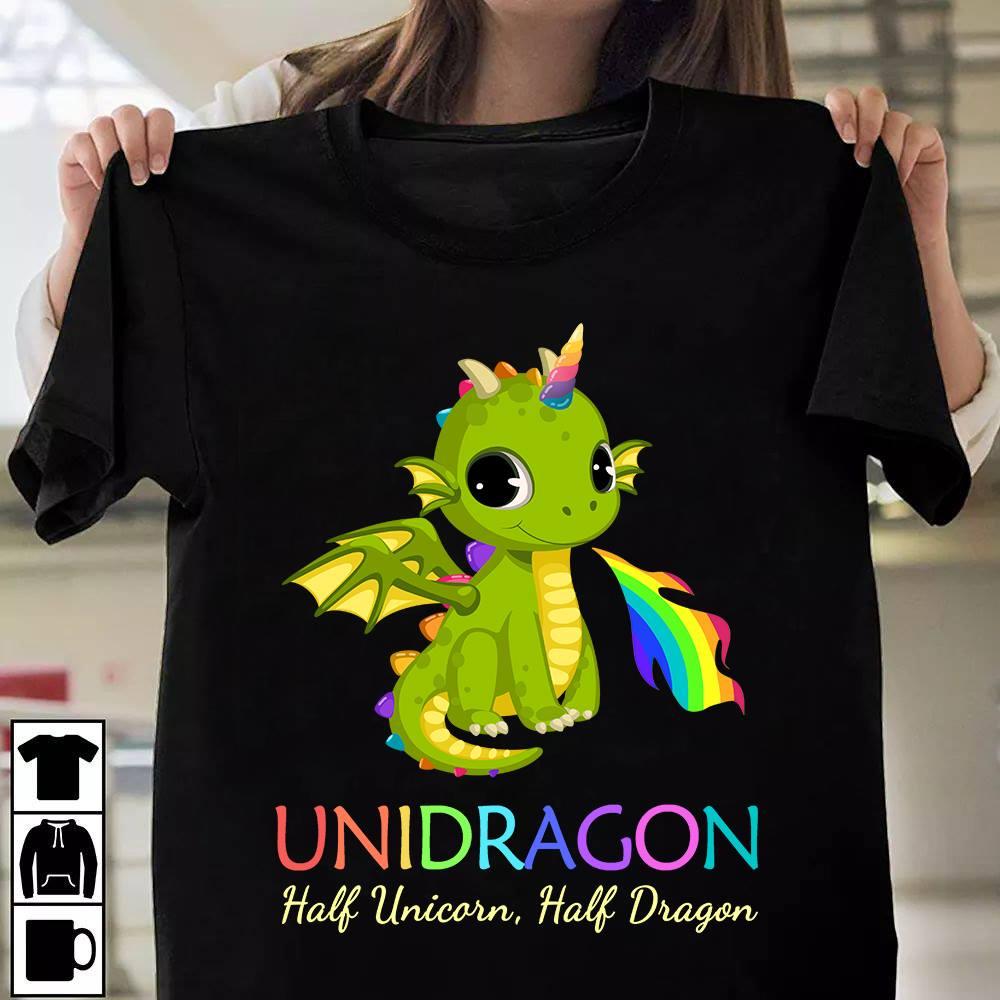 Unicorn Shirt Unidragon Half Unicorn Half Dragon