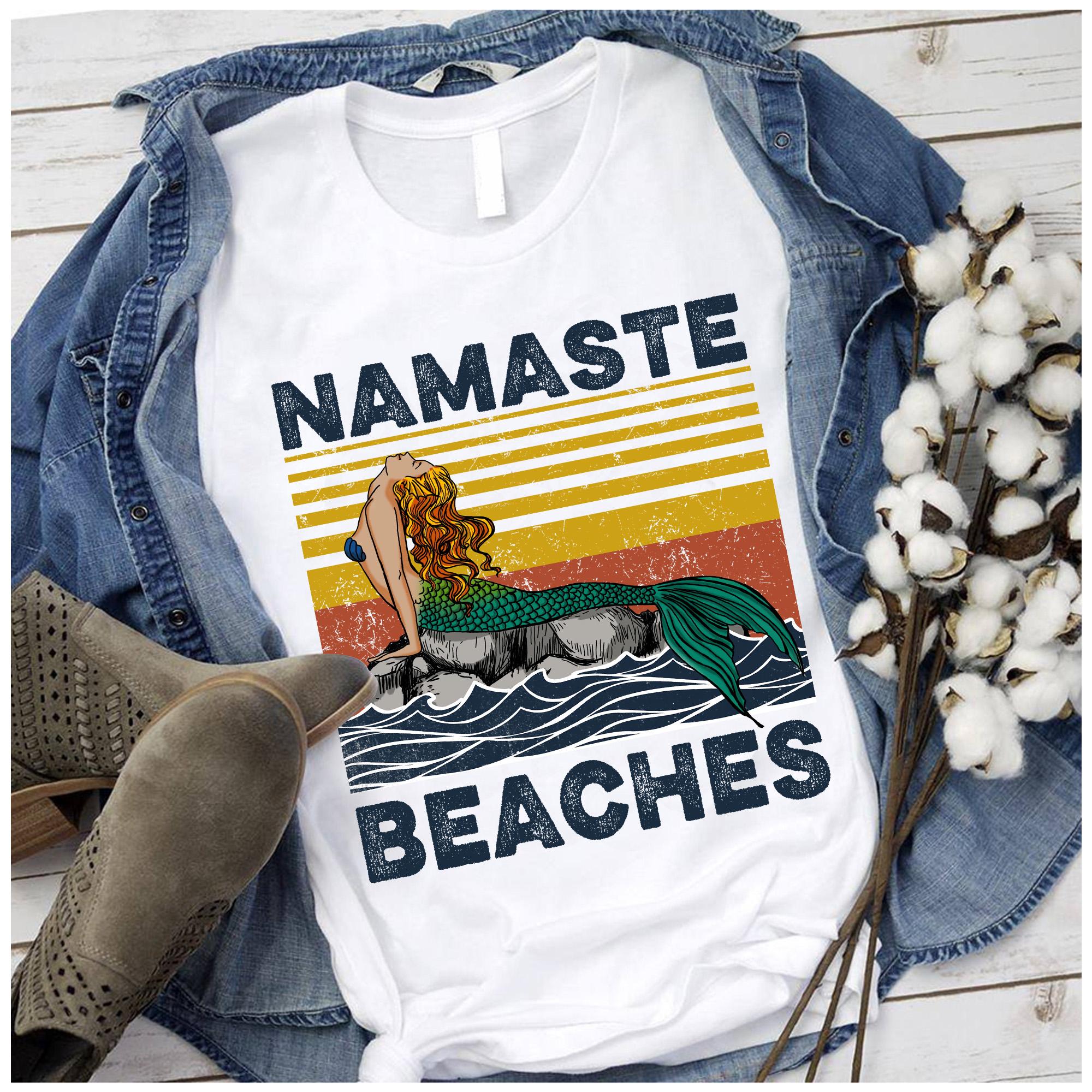 Vintage Namaste Shirt Little Mermaid Beaches