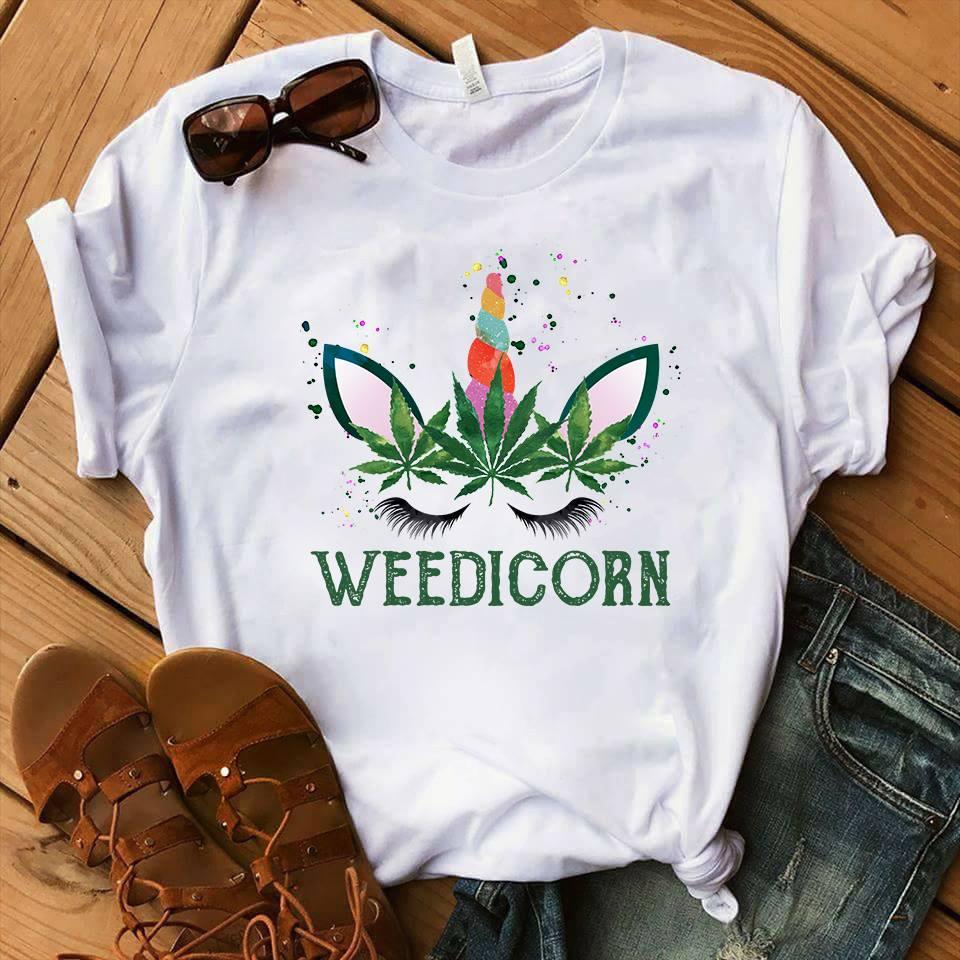 Weedicorn Shirt Weed Leaf Crown