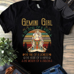 Yoga Gemini Girl Shirt The Soul Of A Witch Vintage