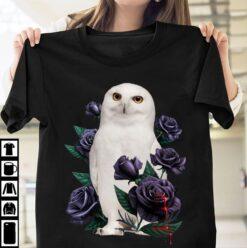 White Owl Shirt Owl And Bleeding Roses