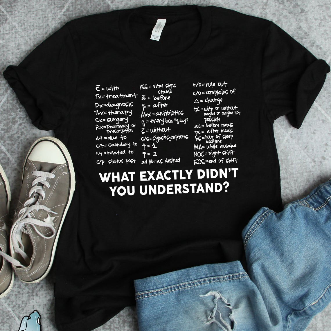 Acronym Nurse Shirt What Exactly Didn't You Understand