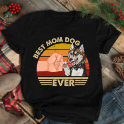 Best Mom Ever Shirt Vintage Best Husky Dog Mom Ever
