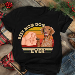 Best Mom Ever Shirt Vintage Best Vizsla Dog Mom Ever