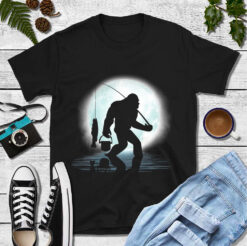Big Foot Shirt Go Fishing
