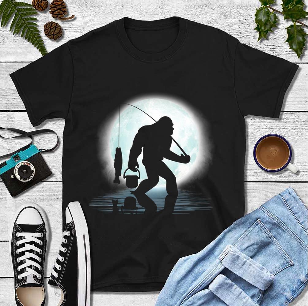 Big Foot Shirt Go Fishing