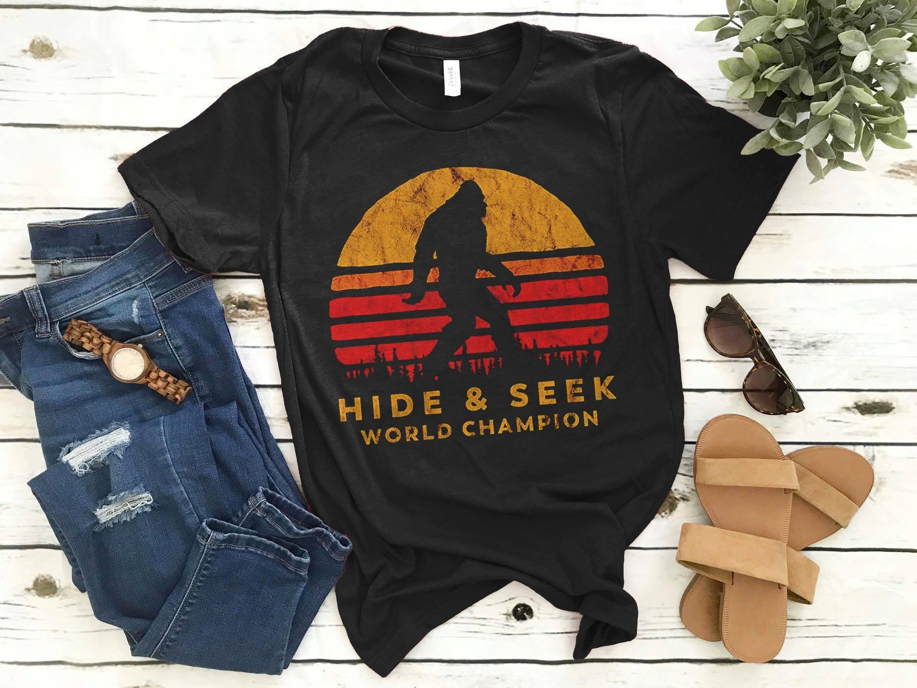 Big Foot Shirt Hide & Seek World Champion