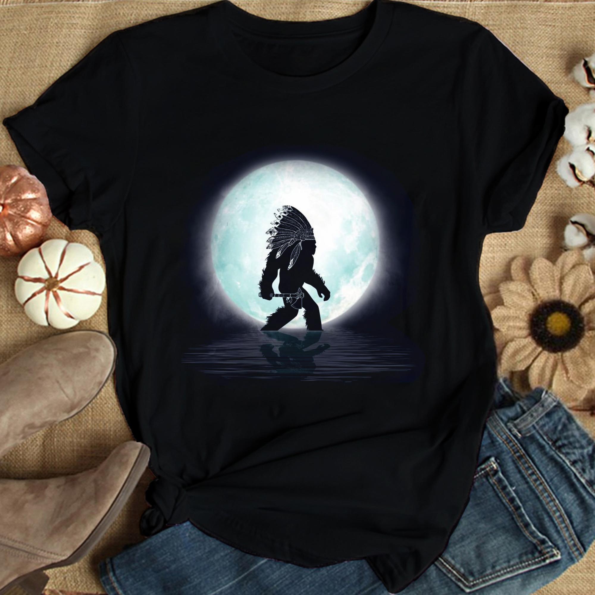 Bigfoot Shirt Bigfoot Under The Moon