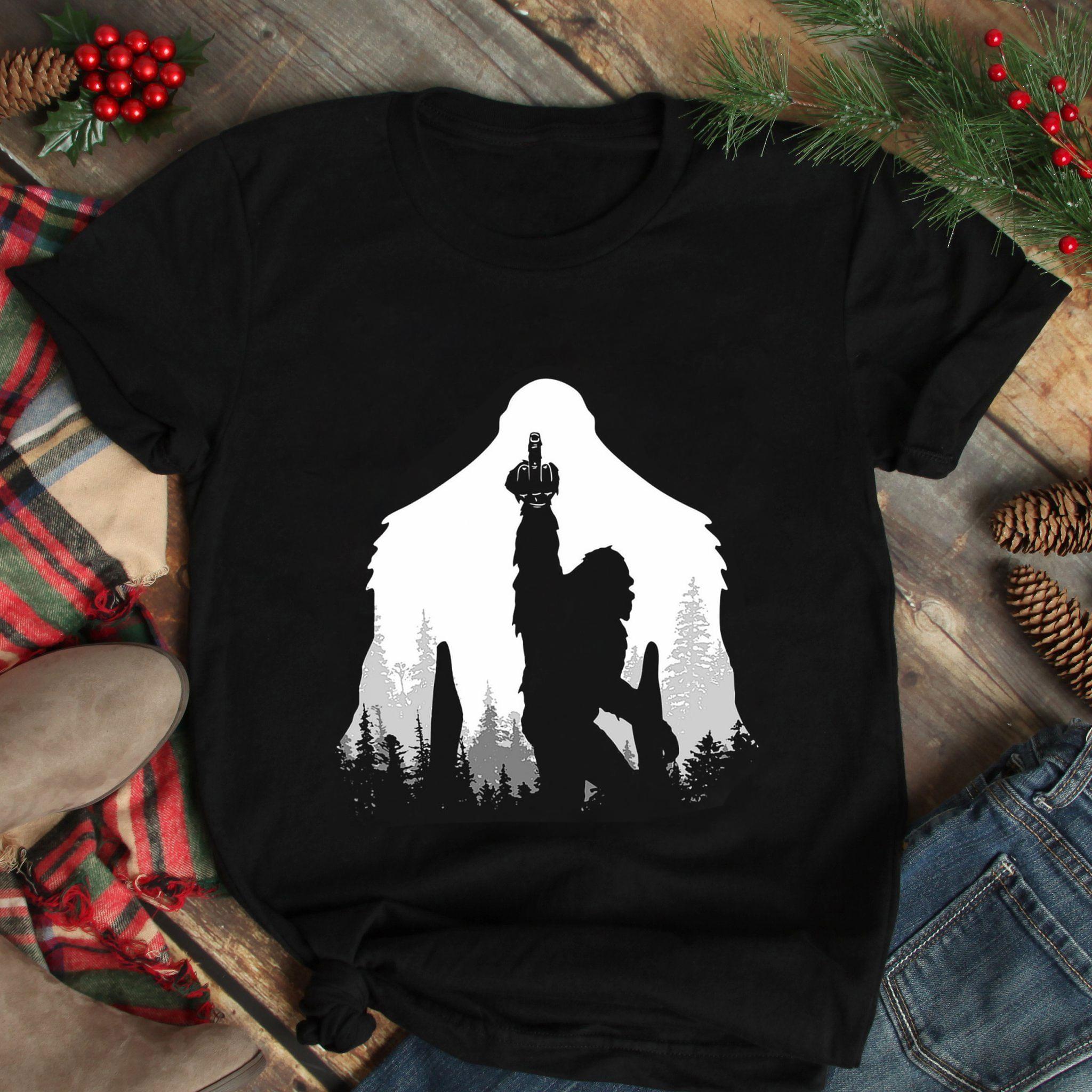 Bigfoot Shirt Middle Finger
