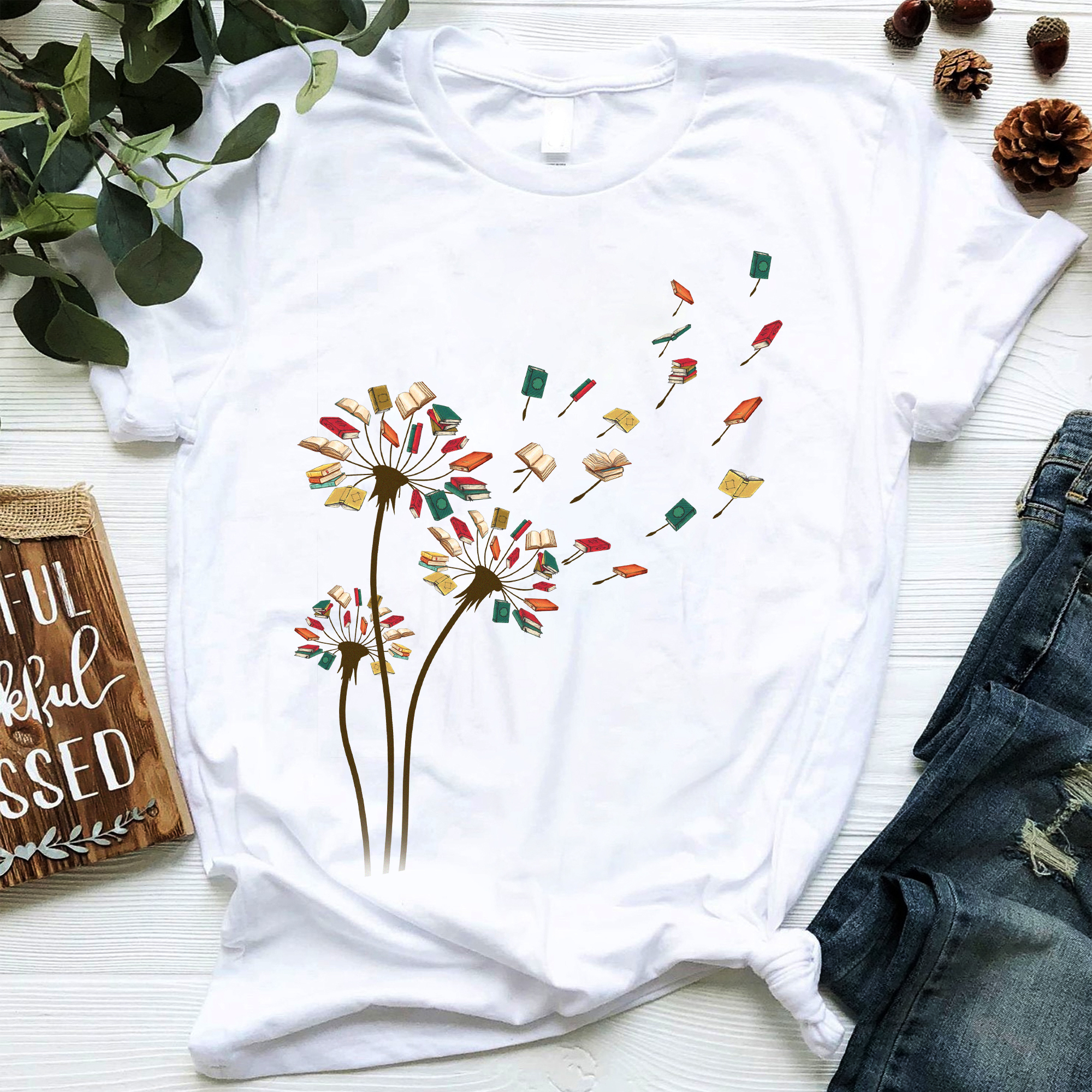 Book Shirt Dandelion Books