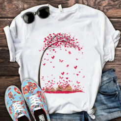 Book Shirt Heart Butterflies Fly