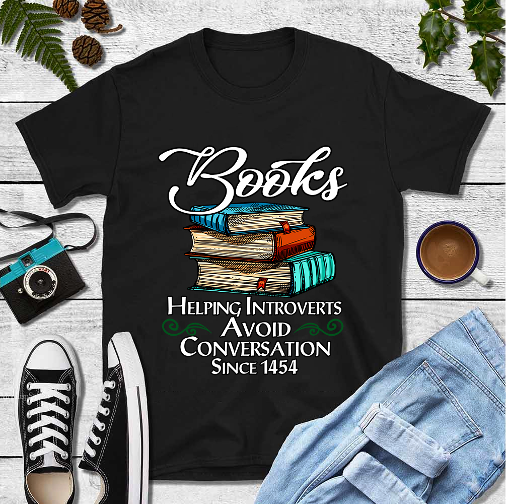 Book Shirt Helping The Introverts Avoid Conversation