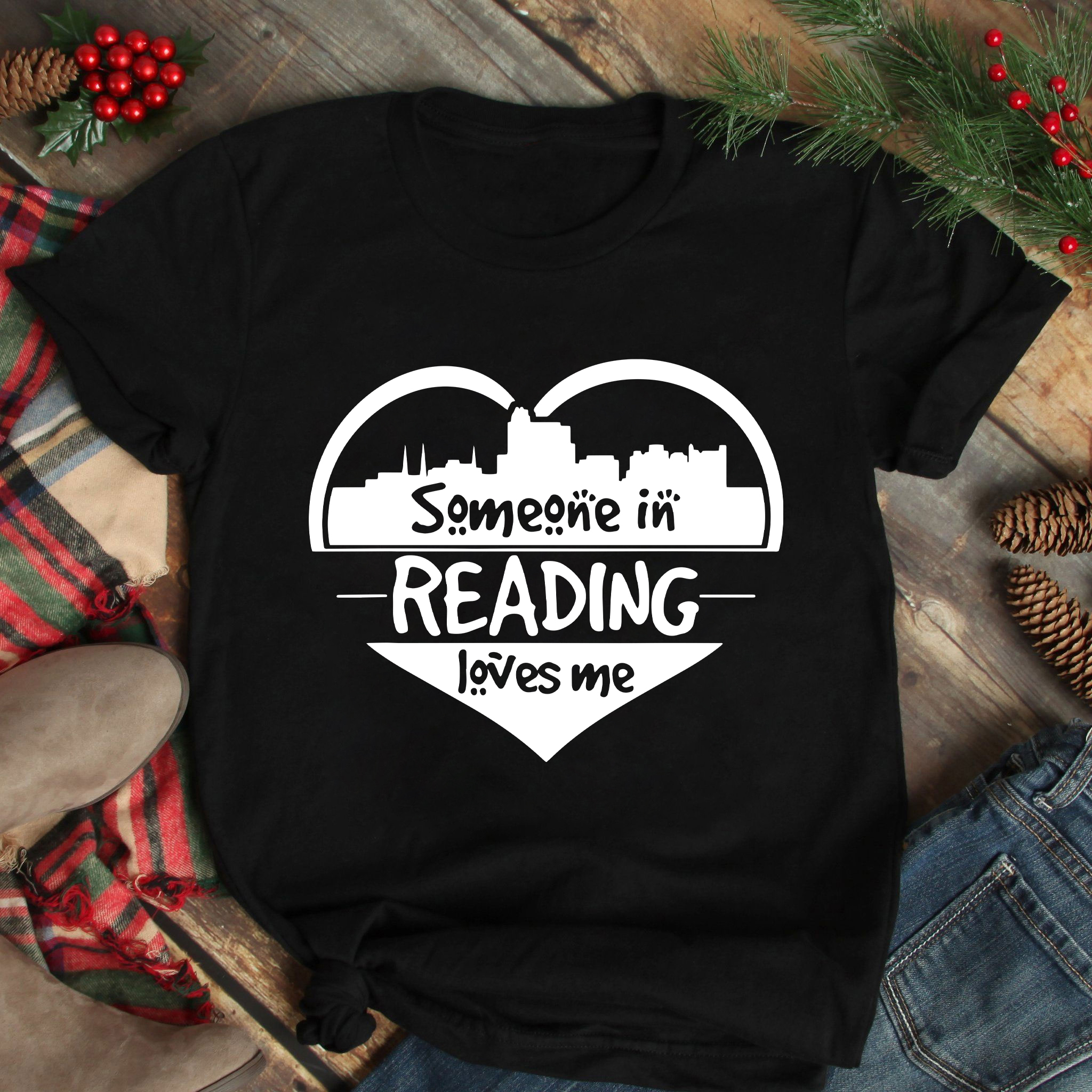 Book Shirt Someone In Reading Loves Me Heart