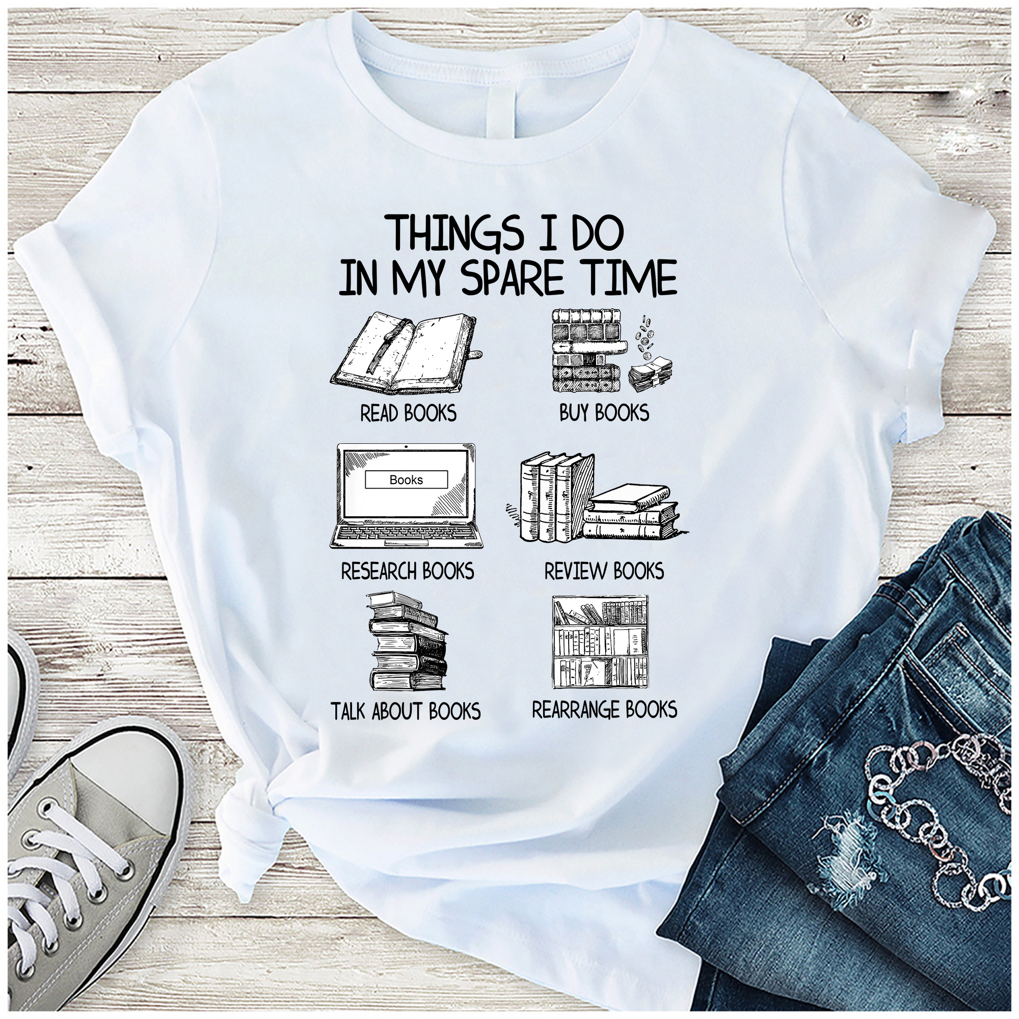 Book Shirt Things I Do In My Spare Time