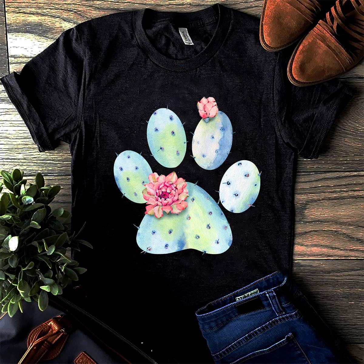 Cactus Shirt Cactus Dog Paw