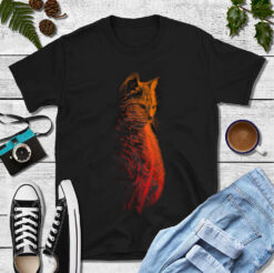 Cat Shirt Fire Cat