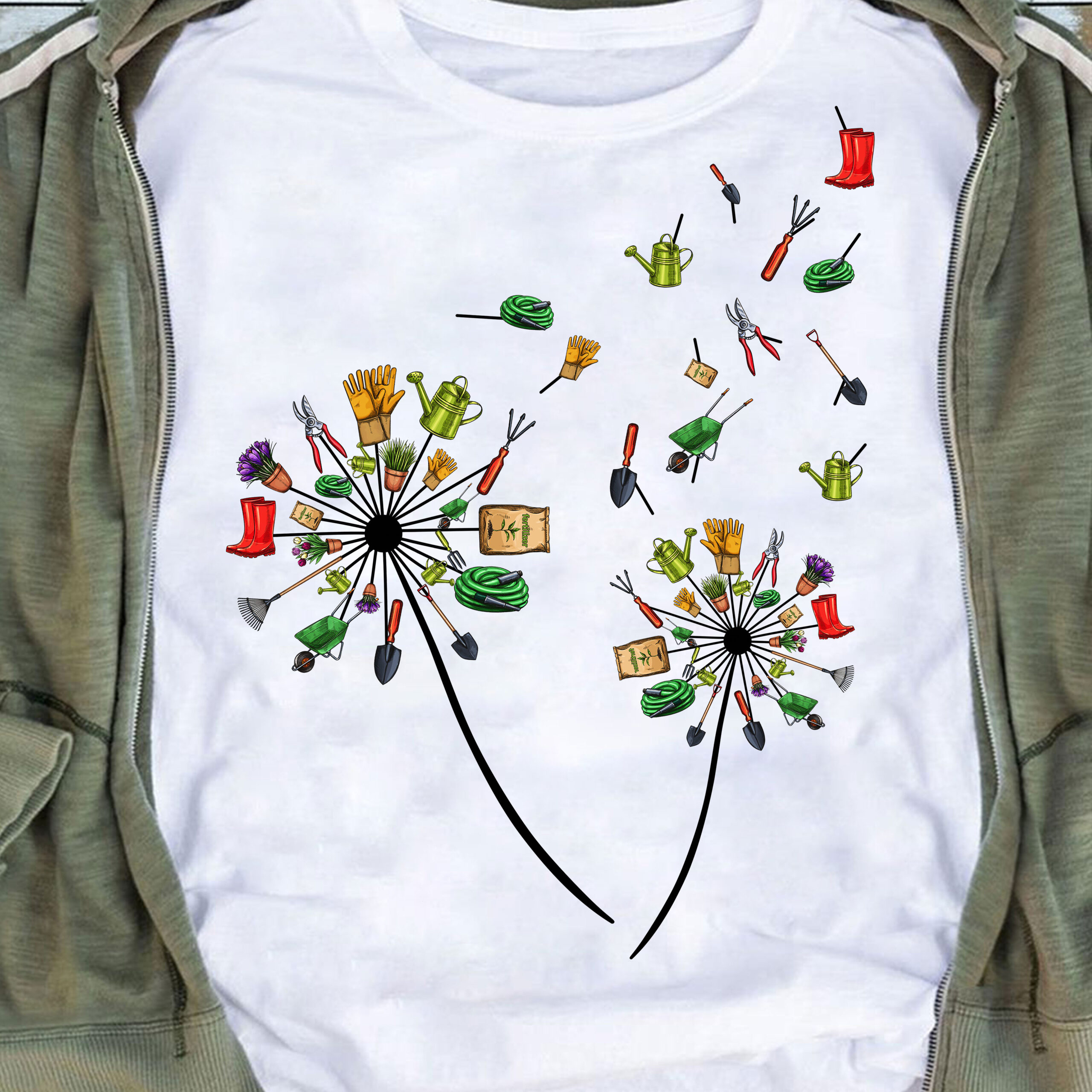 Dandelion Garden Shirt Gardening Tools