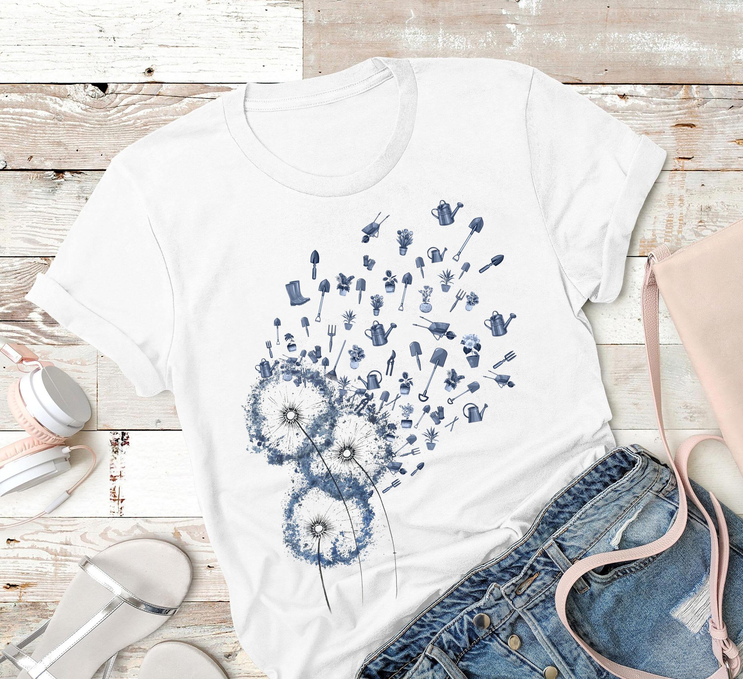 Dandelion Gardening Shirt Gardening Tools