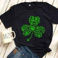 Dog Shirt Paw Clover St Patrick Day
