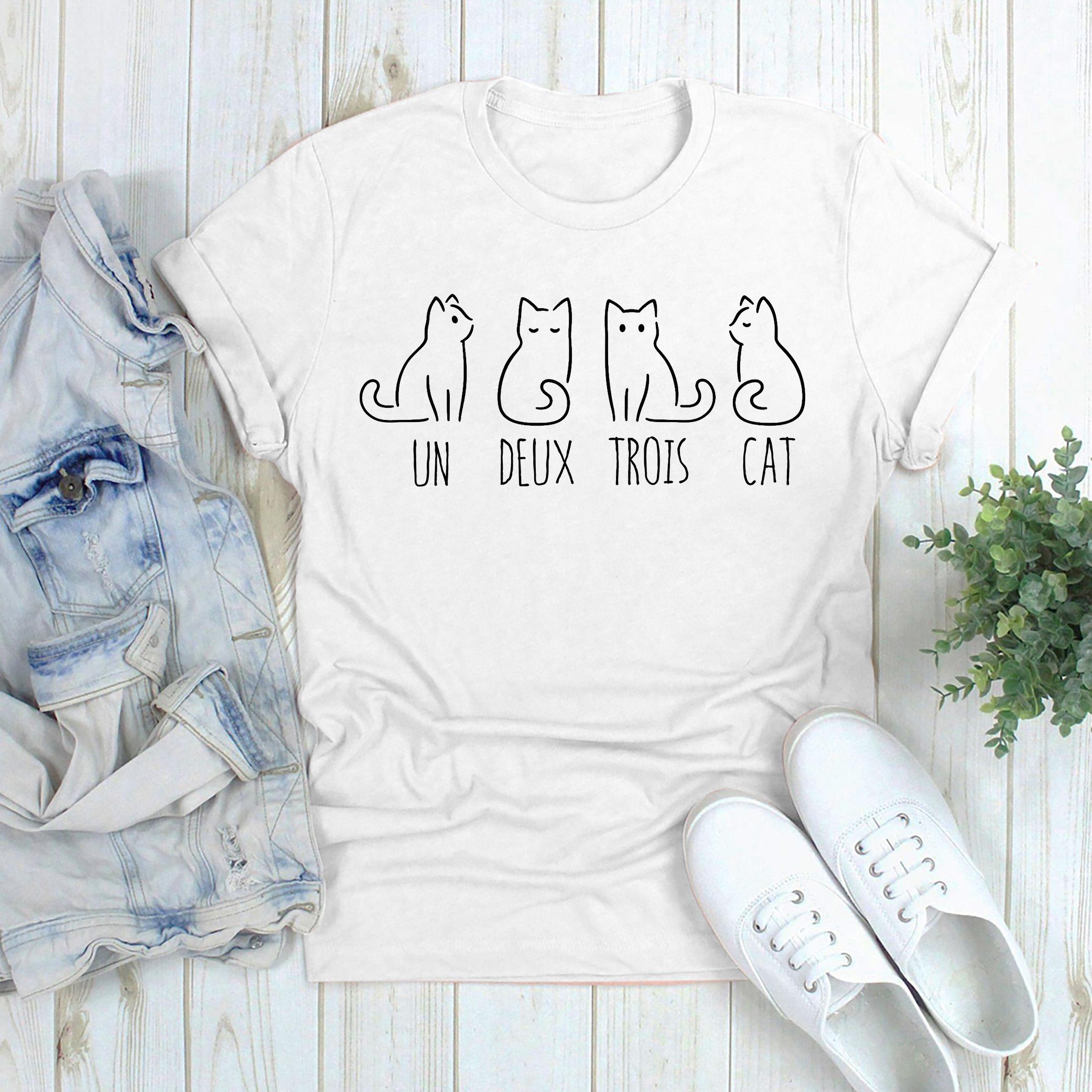 French Un Deux Trois Cat Shirt