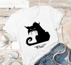Funny Cat Shirt Black Cat What